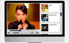 Video Player with Right Playlist (1012x430)