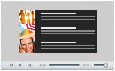 Responsive bottom page audio player