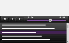 Responsive HTML5 audio player with playlist dark background