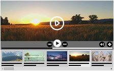 Video with horizontal playlist