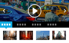 Video portal with slider and sub categories