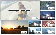 Video portal mosaic with zoomed thumbnails