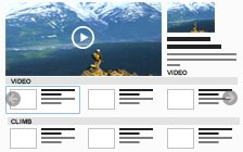 Video gallery with categories