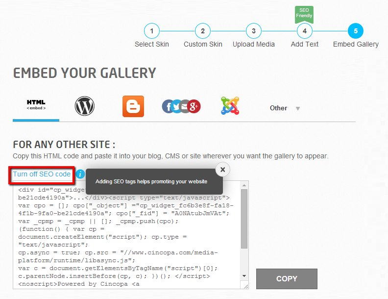 seo embed gallery
