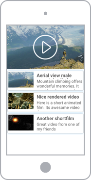 Mobile-friendly music and video player