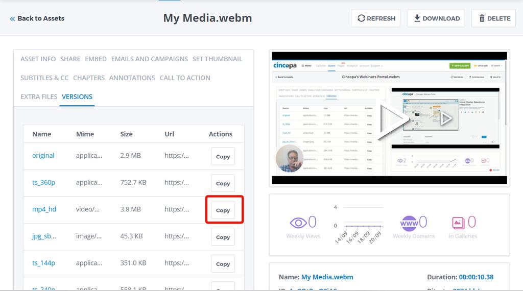 Cincopa's Media Platform API (mpAPI) Documentation