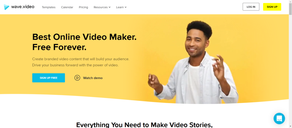 wave.video as one of the top video maker