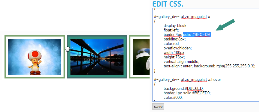 Easily Edit CSS Colors with Cincopa