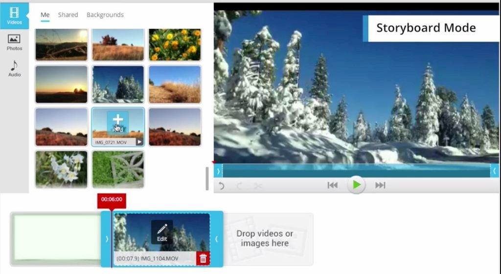 wevideo interafce