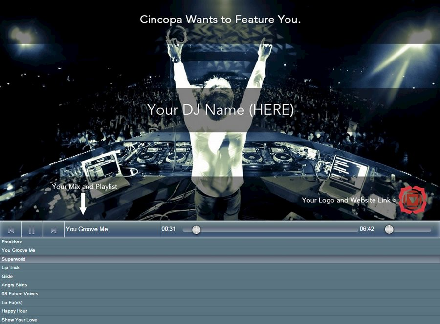 Cincopa is Looking for Five DJ's to Feature