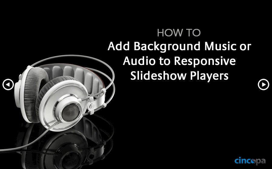 Add Background Music or Audio to Responsive Slideshow Players