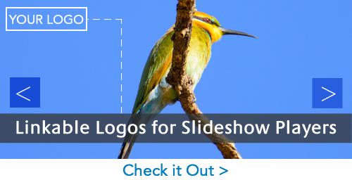 Linkable Logos for Slideshow Players