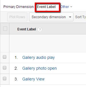 event label