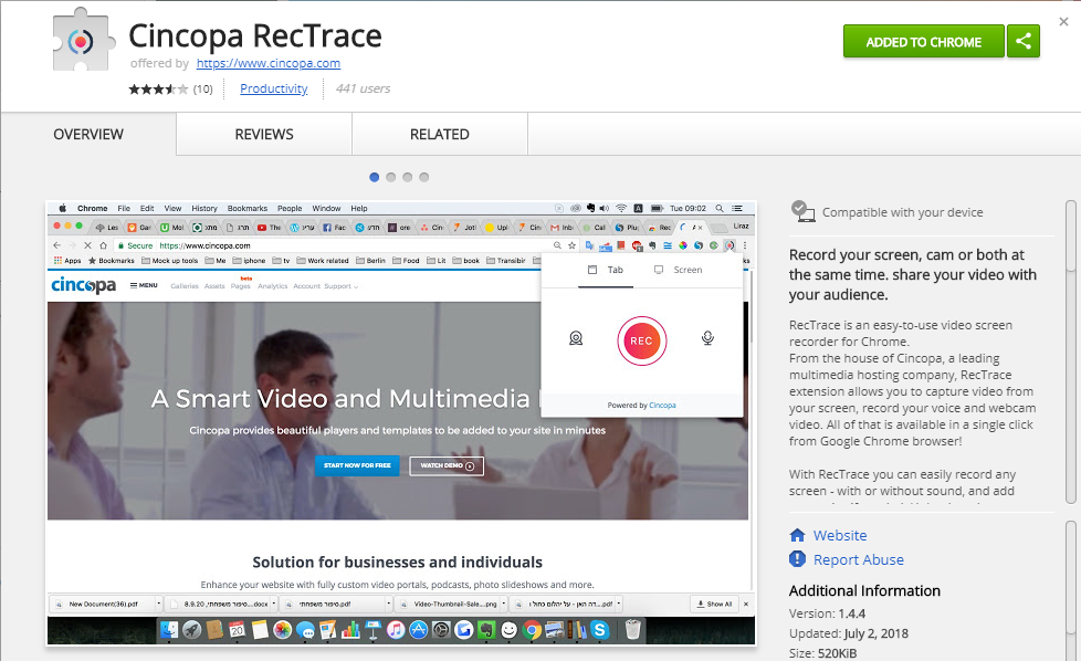 Screen Recording Tool - Record & Share Video with RecTrace