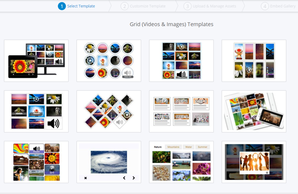 image gallery skins in cincopa palform