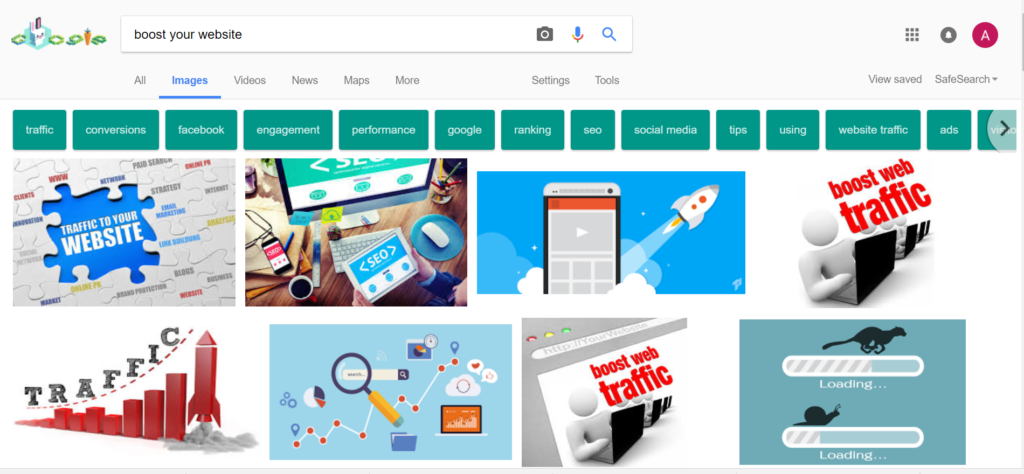 Boost your website with google image search