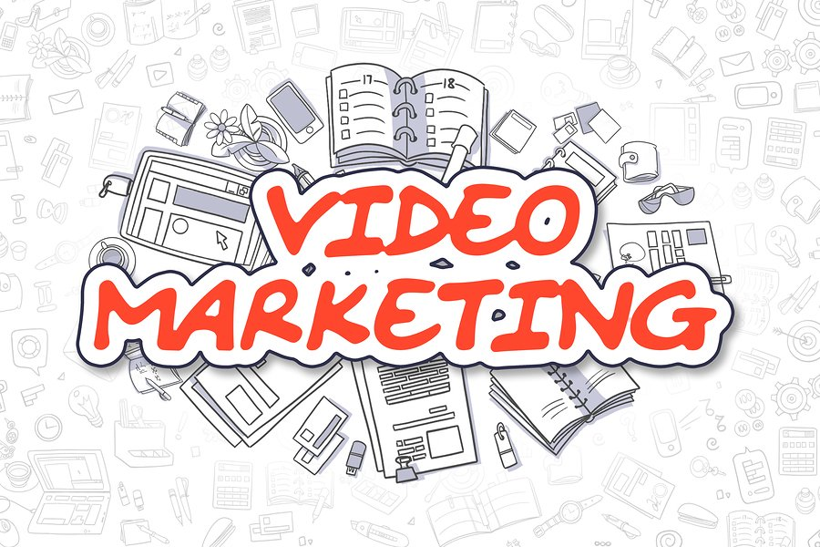 Business Illustration of Video Marketing.