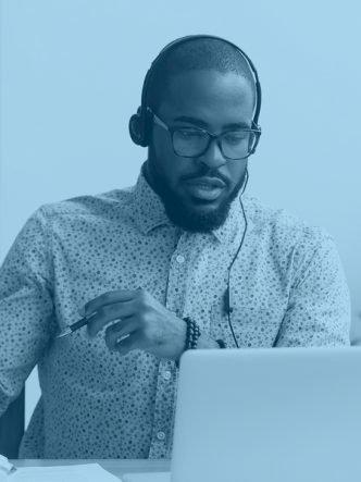 black man computer