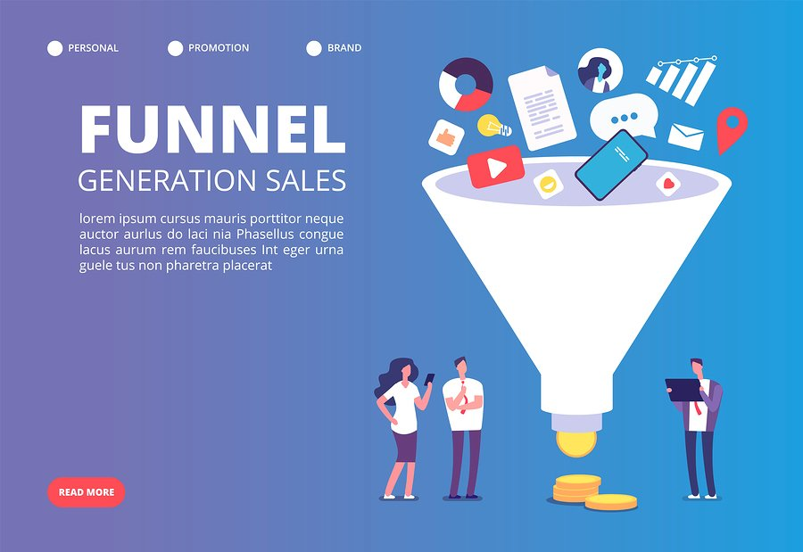 Funnel sale generation