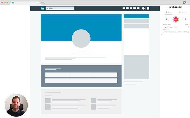 Shazoom - Talking over a Prospect's LinkedIn Page