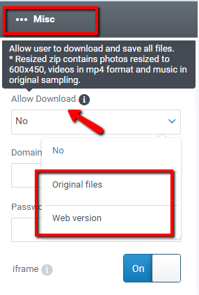 Edit gallery settings – Help Center — Support — Cincopa