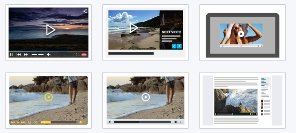 Video players templates