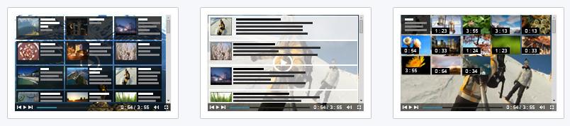 Video playlist templates