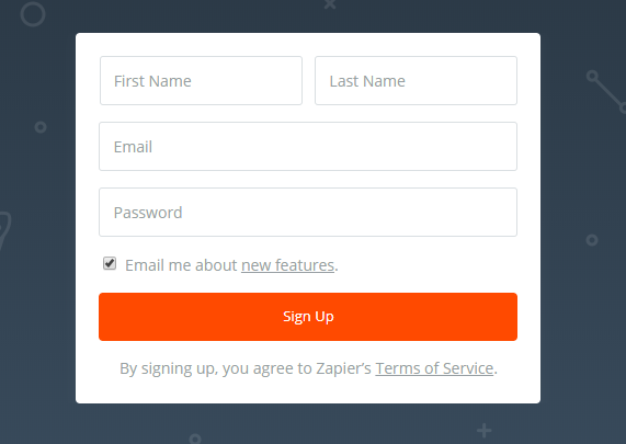 Zapier Signup