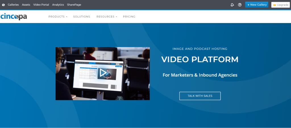 cincopa.com homepage